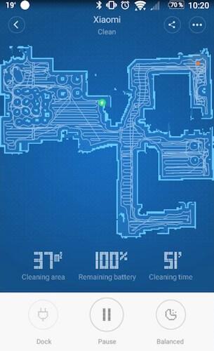 Die App des Xiaomi Saugroboter